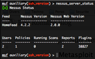 Nessus status check