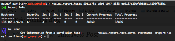 Hosts reported in a Nessus report