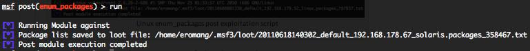 Solaris enum_packages post exploitation script