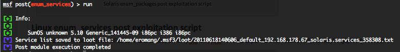 Solaris enum_services post exploitation script