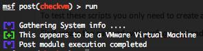 Solaris checkvm post exploitation script