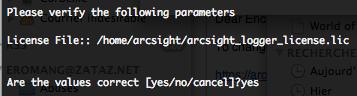 ArcSight Logger License file