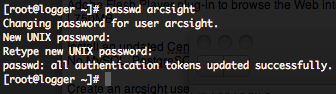 ArcSight user password