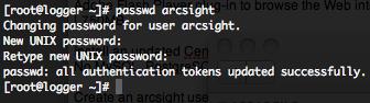 ArcSight user password