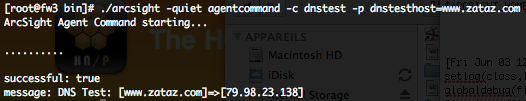 ArcSight SmartConnector DNS test