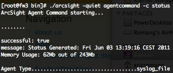 ArcSight SmartConnector status