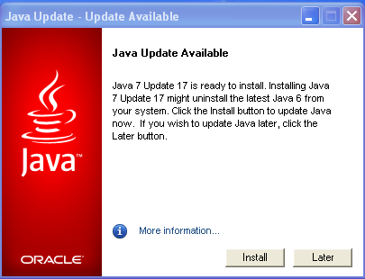 Oracle update to Java 7 Update 17 and to Java 6 Update 43