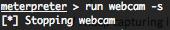 Metasploit Meterpreter stop webcam ruby script
